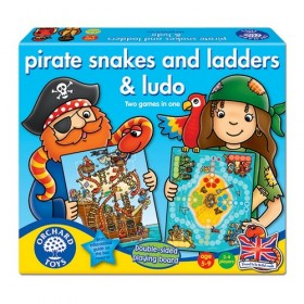 Joc de societate - Piratii - PIRATE SNAKES AND LADDERS & LUDO - Orchard Toys