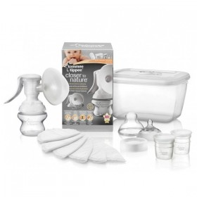 Kit pompa manuala si accesorii Tommee Tippee Closer to Nature