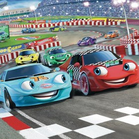 Tapet Walltastic - Cursa de masini (Car Racers)