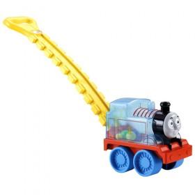 Antepremergator Locomotiva Thomas cu bile si maner Fisher Price