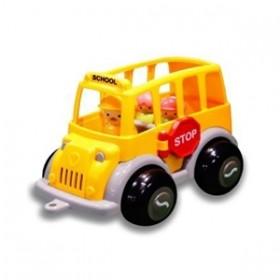 Autobuz scolar cu sofer si 2 elevi - Midi - Viking Toys