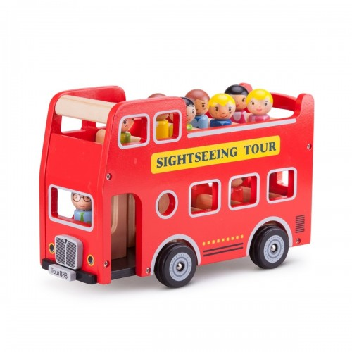 Autobuz turistic cu 9 figurine - New Classic Toys