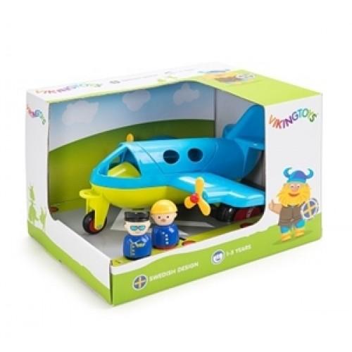 Avion culori vesele cu 2 figurine - Jumbo - Viking Toys