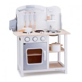 Bucatarie Bon appetit alb/argintiu - New Classic Toys