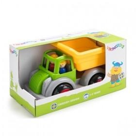 Camion Autobasculanta culori vesele cu 2 figurine - Jumbo - Viking Toys