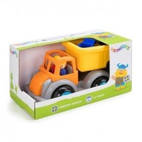Camion Gunoi culori vesele cu 2 figurine - Jumbo - Viking Toys