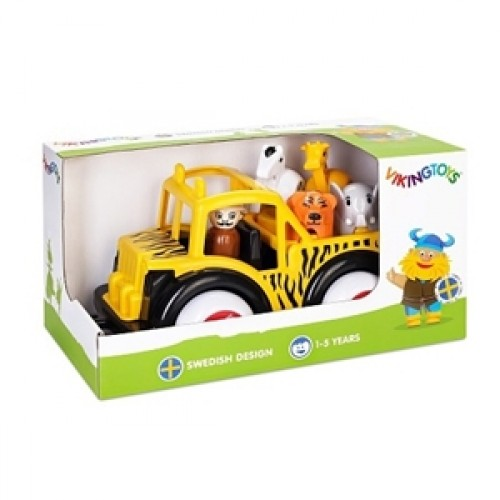 Camion Safari cu ghid si animale - Jumbo - Viking Toys