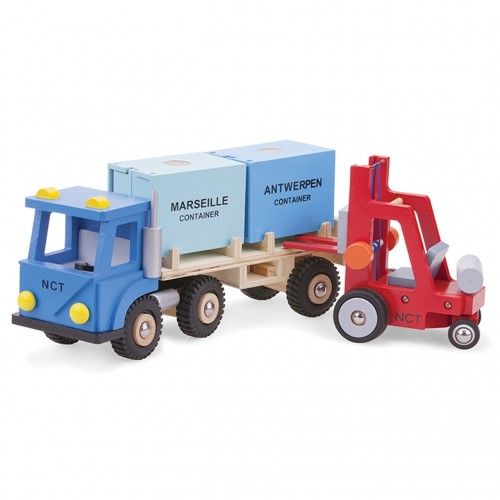 Camion cu 2 containere - New Classic Toys