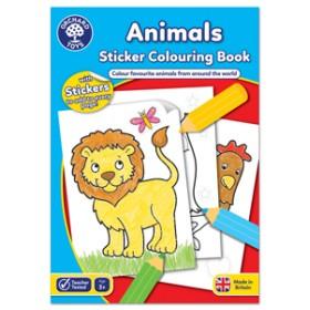 Carte de colorat cu activitati in limba engleza si abtibilduri - Animale - ANIMALS - Orchard Toys