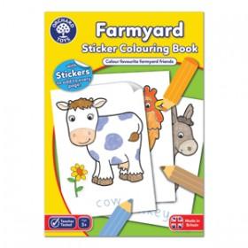 Carte de colorat cu activitati in limba engleza si abtibilduri - Ferma - FARMYARD - Orchard Toys