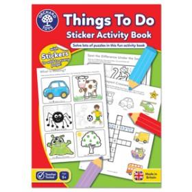 Carte de colorat cu activitati in limba engleza si abtibilduri Lucruri de Facut - THINGS TO DO - Orchard Toys