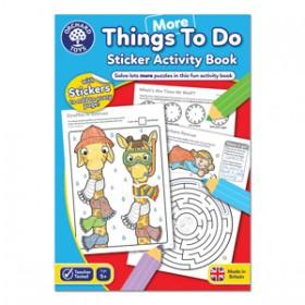 Carte de colorat cu activitati in limba engleza si abtibilduri Mai Multe Lucruri de Facut - MORE THINGS TO DO - Orchard Toys