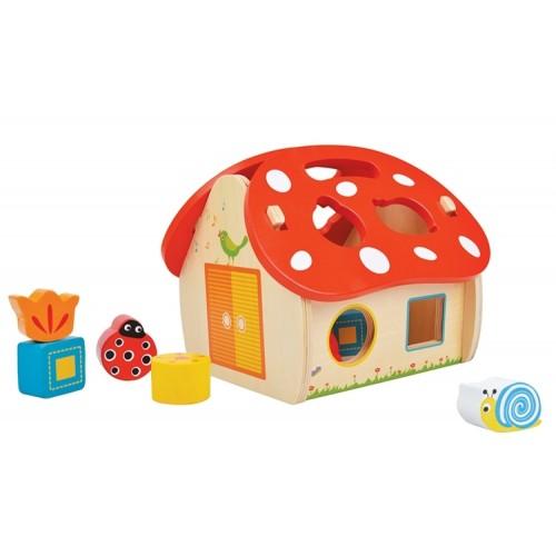 Casuta cu forme Ciuperca - New Classic Toys