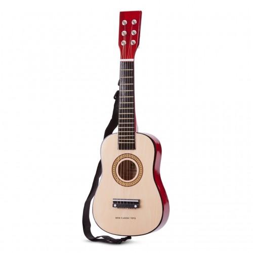 Chitara lemn natur New Classic Toys