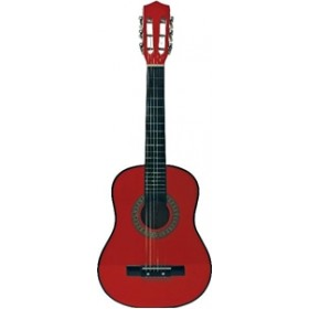 Chitara rosie profesionala din lemn pentru copii 72 cm - New Classic Toys
