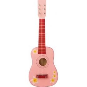 Chitara roz cu flori - New Classic Toys