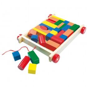 Cuburi colorate pentru construit in carucior - Bino