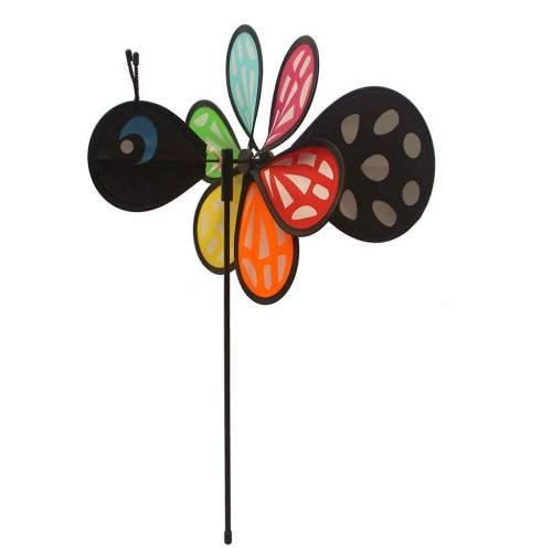 Decoratiune gradina - Morisca de vant in forma de fluture 30 x 42 cm - Rhombus