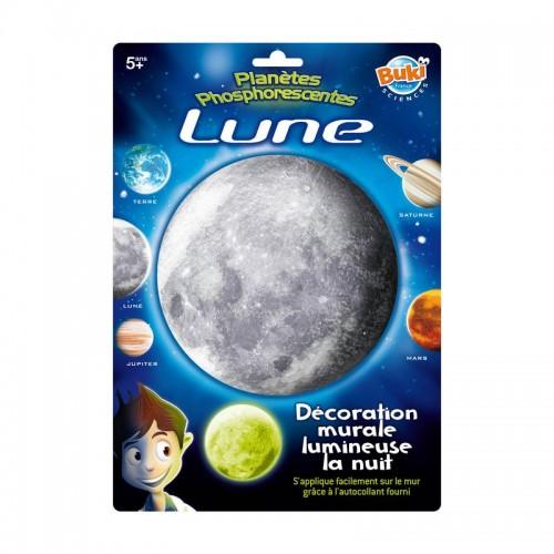 Decoratiuni de perete fosforescente - Luna - Buki