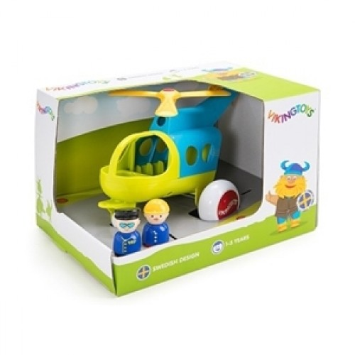 Elicopter culori vesele cu 2 figurine - Jumbo - Viking Toys