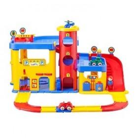 Garaj cu 2 etaje si set de drumuri - Viking City - Viking Toys