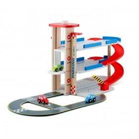 Garaj cu pista si 3 masini - New Classic Toys