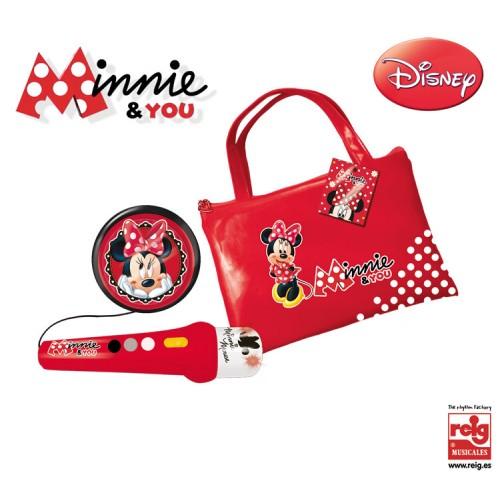 Geanta cu microfon si amplificator Minnie Mouse - Reig Musicales
