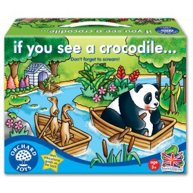 Joc de societate - Fereste-te de crocodili - IF YOU SEE A CROCODILE - Orchard Toys
