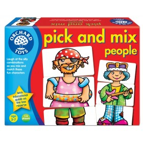 Joc educativ - Asociaza personajele - PICK AND MIX PEOPLE - Orchard Toys