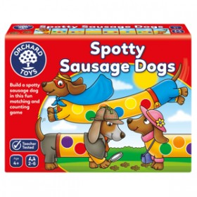 Joc educativ Cateii Patati - SPOTTY SAUSAGE DOGS - Orchard Toys