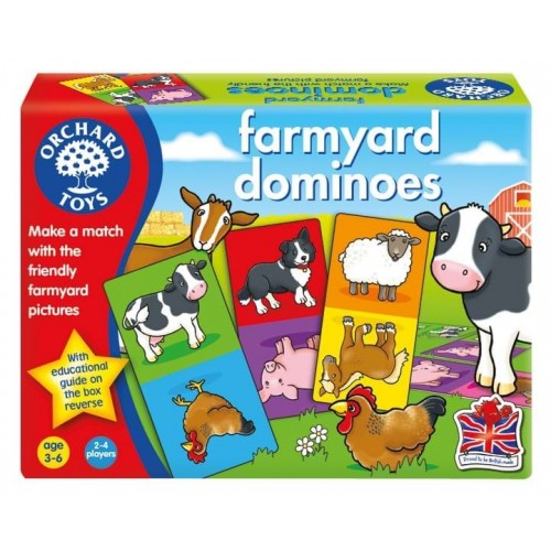 Joc educativ Domino Ferma - Farmyard Dominoes - Orchard Toys
