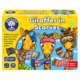 Joc educativ Girafe cu Fular - GIRAFFES IN SCARVES - Orchard Toys