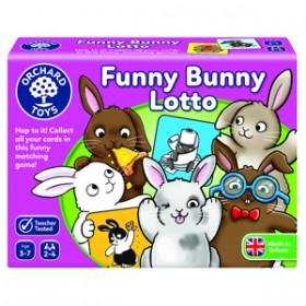 Joc educativ Iepurasul Amuzant - FUNNY BUNNY LOTTO - Orchard Toys