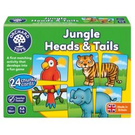 Joc educativ Jungla - JUNGLE HEADS & TAILS - Orchard Toys