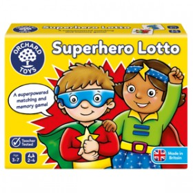 Joc educativ Supererou - SUPERHERO LOTTO - Orchard Toys