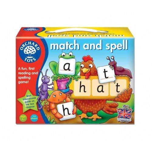 Joc educativ in limba engleza Potriveste si Formeaza cuvinte - Match and Speel - Orchard Toys