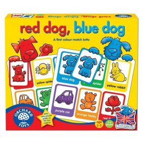 Joc educativ loto in limba engleza Catelusii - Red Dog, Blue Dog - Orchard Toys