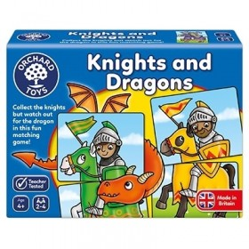 Joc educativ - puzzle Cavaleri si Dragoni Knights and Dragons - Orchard Toys