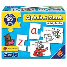 Joc educativ - puzzle in limba engleza Invata alfabetul prin asociere - ALPHABET MATCH - Orchard Toys