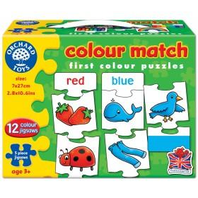 Joc educativ - puzzle in limba engleza - Invata culorile prin asociere COLOUR MATCH - Orchard Toys