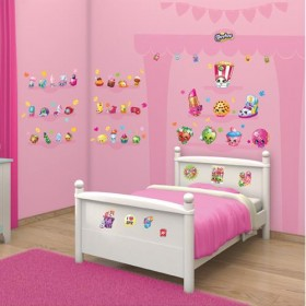 Kit Decor Walltastic - Shopkins
