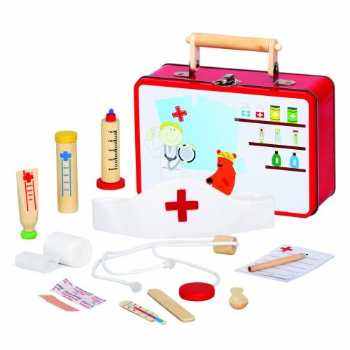 Trusa doctor din lemn - Medic veterinar - Bino