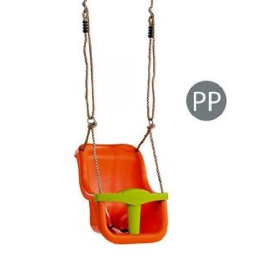 Leagan Baby Seat Luxe Orange-Lime Green - KBT