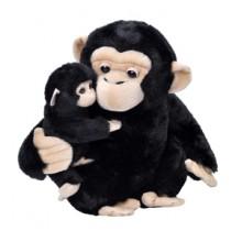 Mama si Puiul - Cimpanzeu - Jucarie Plus Wild Republic 31 cm