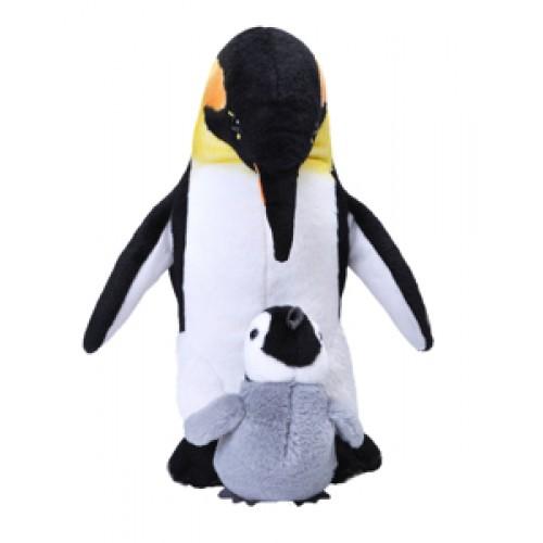 Mama si Puiul - Pinguin - Jucarie Plus Wild Republic 32 cm