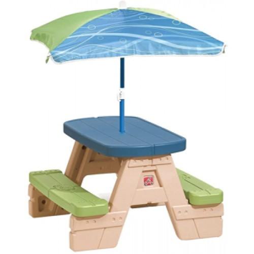 Masa picnic cu umbrela - STEP2