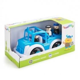 Masina Politie cu 3 figurine - Jumbo - Viking Toys