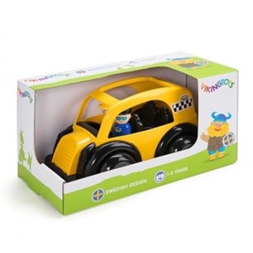 Masina Taxi cu 2 figurine - Jumbo - Viking Toys