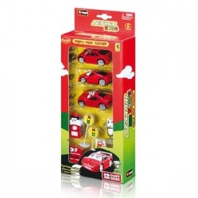 Masinuta FERRARI KIDS TRIPLE PACK PLAY - BBURAGO