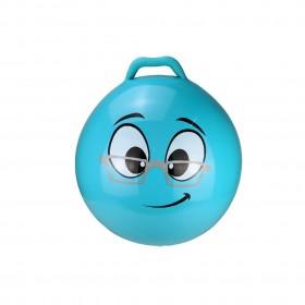 Minge gonflabila de sarit, pentru copii, model emoticon albastru, 55 cm